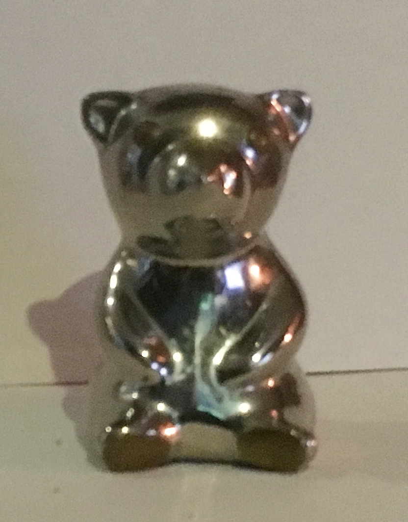 Chrome Bear Tiller Pin