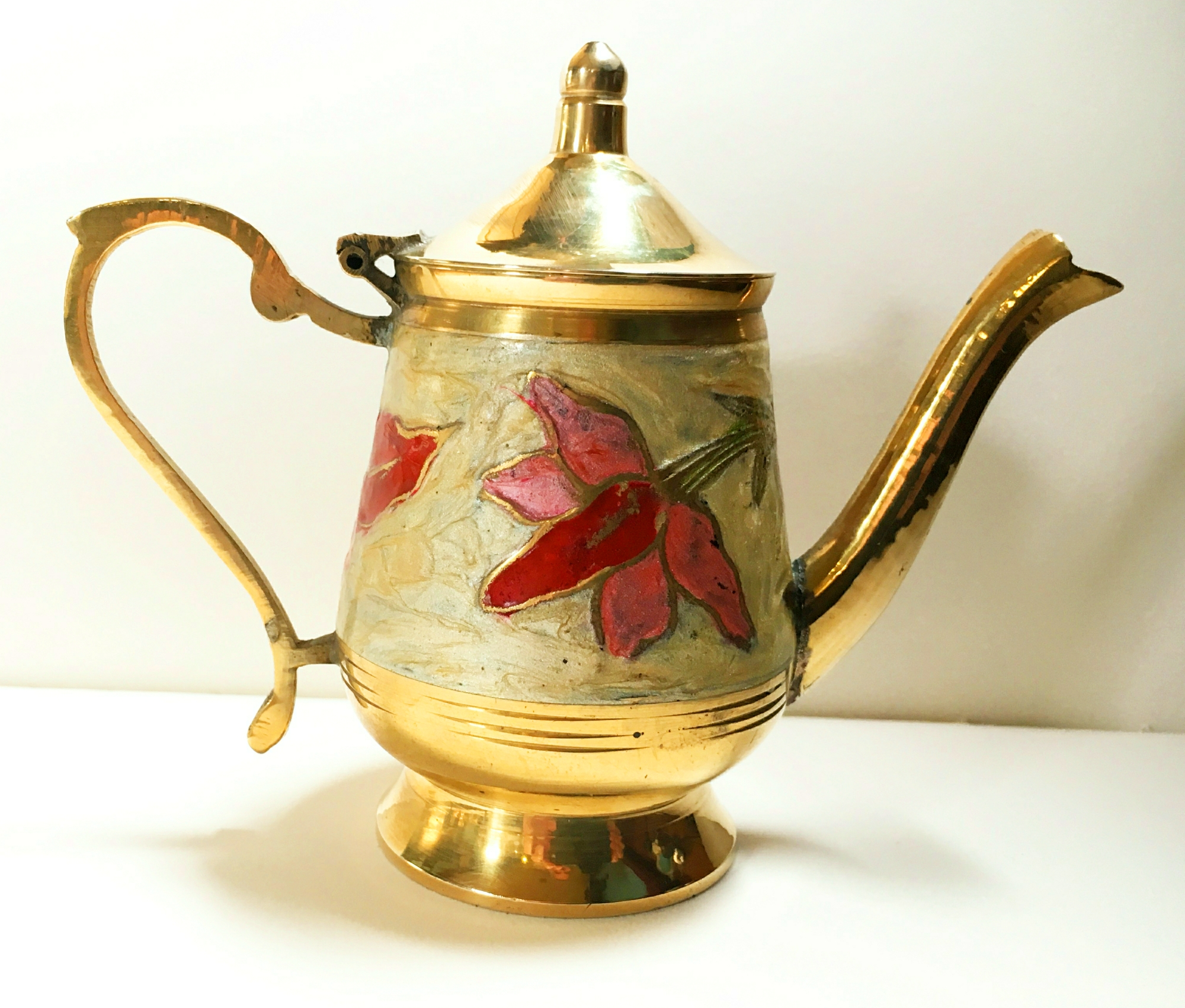 Enamelled Tea Pot Tiller Pin
