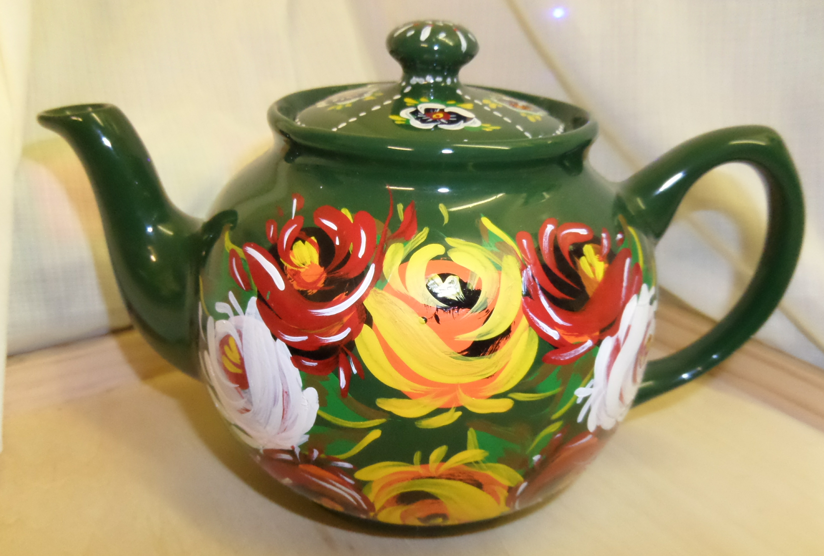 Tea Pot - medium, green